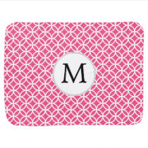 Personalized Monogram Pink rings pattern Swaddle Blanket