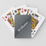 "Personalized Monogram Playing Cards<br><div class=""desc"">Click the &quot;Customize It!&quot; button to personalize this design template with your own name.</div>"
