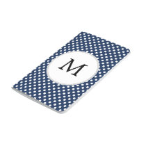 Personalized Monogram Polka Dots Pattern in Blue Journal