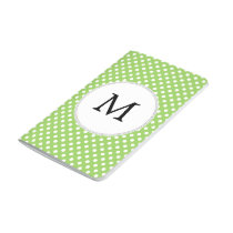 Personalized Monogram Polka Dots Pattern in Green Journal