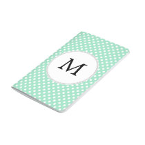 Personalized Monogram Polka Dots Pattern in Mint Journal