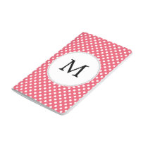 Personalized Monogram Polka Dots Pattern in Pink Journal