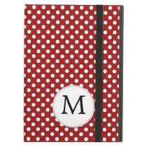 Personalized Monogram Polka Dots Pattern in red Case For iPad Air