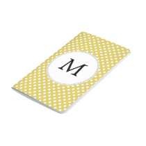 Personalized Monogram Polka Dots Pattern in Yellow Journal