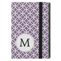 Personalized Monogram Purple Double Rings iPad Mini Case