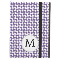 Personalized Monogram Purple Houndstooth Pattern Cover For iPad Air