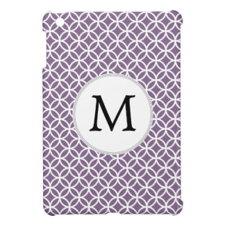 Personalized Monogram purple rings pattern iPad Mini Covers