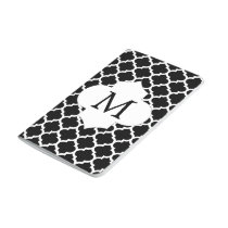Personalized Monogram Quatrefoil Black and White Journal