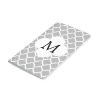 Personalized Monogram Quatrefoil Gray and White Journal