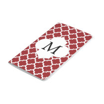 Personalized Monogram Quatrefoil Red and White Journal
