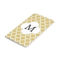 Personalized Monogram Quatrefoil Yellow and White Journal