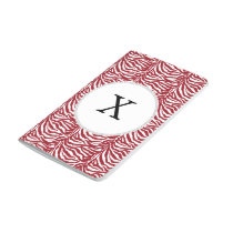 Personalized Monogram Red Zebra Stripes pattern Journal