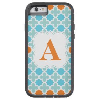 Personalized Monogram Retro Quatrefoil Pattern Tough Xtreme iPhone 6 Case