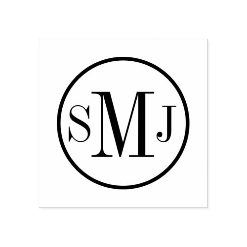 Personalized Monogram Rubber Stamp