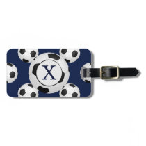 Personalized Monogram Soccer Balls Sports Bag Tag