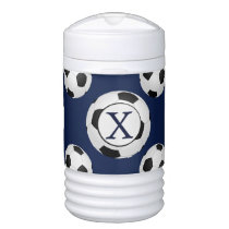 Personalized Monogram Soccer Balls Sports Beverage Cooler