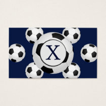 Personalized Monogram Soccer Balls Sports Business Card