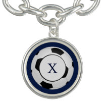 Personalized Monogram Soccer Balls Sports Charm Bracelets