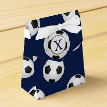 Personalized Monogram Soccer Balls Sports Favor Box