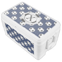 Personalized Monogram Soccer Balls Sports Ice Chest