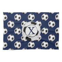 Personalized Monogram Soccer Balls Sports Kitchen Towel