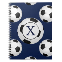 Personalized Monogram Soccer Balls Sports Notebook