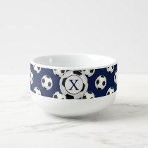 Personalized Monogram Soccer Balls Sports Soup Mug