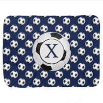 Personalized Monogram Soccer Balls Sports Stroller Blanket
