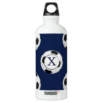 Personalized Monogram Soccer Balls Sports Water Bottle