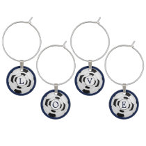 Personalized Monogram Soccer Balls Sports Wine Glass Charm