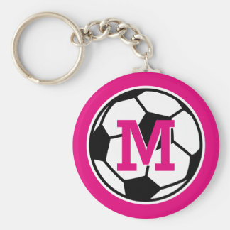 Personalized monogram soccer keychains for girls