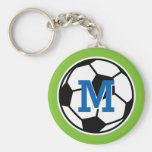 Personalized monogram soccer keychains for kids