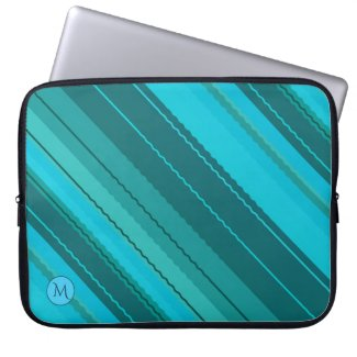 Personalized Monogram Striped Laptop Sleeve