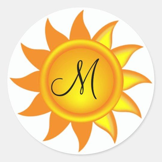 Personalized Monogram Sun Beach Stickers