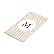 Personalized Monogram Tan houndstooth Pattern Journal