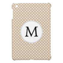 Personalized Monogram Tan polka Dots Pattern Case For The iPad Mini