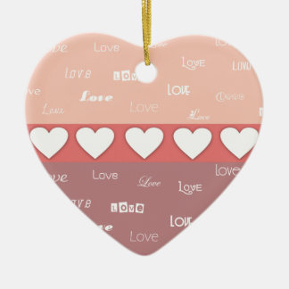 Personalized Monogram Valentine's Day Ornaments