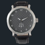 "Personalized monogram watch for men | Quatrefoil<br><div class=""desc"">Personalized monogram watch for men 