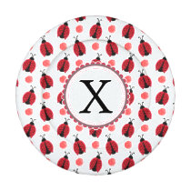 Personalized monogram watercolor Ladybugs Button Covers