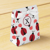 Personalized monogram watercolor Ladybugs Favor Box