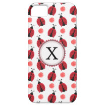 Personalized monogram watercolor Ladybugs iPhone SE/5/5s Case