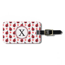 Personalized monogram watercolor Ladybugs Luggage Tag
