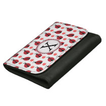 Personalized monogram watercolor Ladybugs Wallet For Women