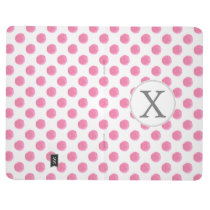 Personalized monogram watercolor pink polka dots P Journal