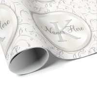 Personalized Monogram Wedding Wrapping Paper