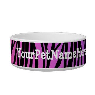 Personalized Monogram Wild Zebra Print Purple Bowl