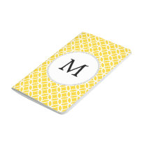 Personalized Monogram Yellow Double Rings Pattern Journal