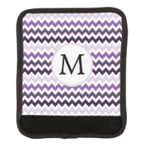 Personalized Monogram zigzag purple and White Handle Wrap
