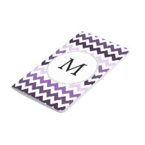 Personalized Monogram zigzag purple and White Journal