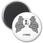 Personalized Monogrammed Angel Wings Magnet